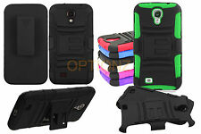 RUGGED CASE & BELT CLIP HOLSTER FOR Samsung Galaxy Note 3 Neo Lite N7505 +Screen