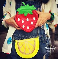 Summer Fresh Fruit Watermelon Strawberry Girls Women Handbag Mini Messenger Bag