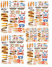 1:32 1:43 1:64 FLAME DECALS FOR DIECAST & MODEL CARS & DIORAMAS
