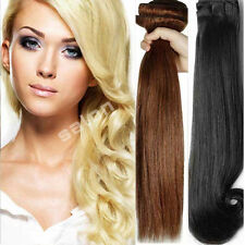 "Full Head Human Thick Hair Extensions Double Weft Standard Weft 13-24"" World AU"