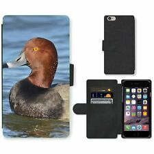 Cell Phone Card Slot PU Leather Wallet Case For Apple iPhone Duck
