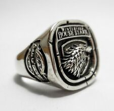 925 STERLING SILVER GAME OF THRONES HOUSE OF STARK WOLF RINGS Sz. 8-12