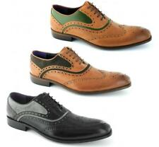 Gucinari AZOR Mens Lace Up Leather/Suede Formal Dress Brogue Oxford Shoes