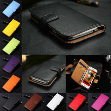 For Samsung Galaxy Luxury Genuine Leather Flip Wallet Case Cover Card Holder