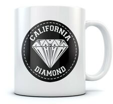 California Diamond Coffee Mug Cool Tea Cup Novelty Gift Idea Sturdy Ceramic Mug