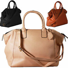 Designer Ladies Large Womens Leather Style Tote Shoulder Bag Handbag