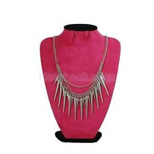 4 Colors Punk Rock Multi Layer Spike Rivets Tassel Necklace Choker Club Party