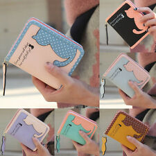 New Fashion Women Girls Cat Purse Short Wallet Bags PU Handbags Card Holder Cute
