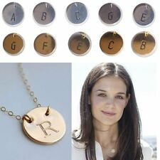 Initial friendship necklace personalized Discs Charm Custom Letter Jewelry Gift