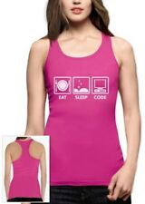 Eat Sleep Code - Funny Programmer Coder Racerback Tank Top Coding Geek Gift Idea