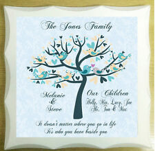 Personalised Family Tree Chic Anniversary Wedding Plaque Shabby Gift Present