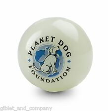 PLANET DOG GLOW for GOOD BALL Glow in Dark Bouncy Durable Minty Made USA Dog Toy