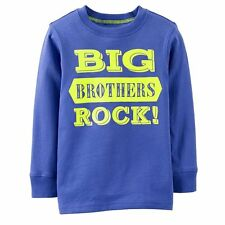 "~NEW~ ""BIG BROTHERS ROCK!"" Baby Boys Brother Graphic Shirt 2T 3T 5T Gift! Blue"