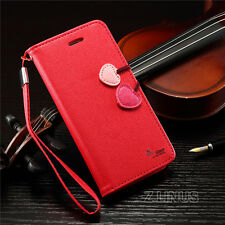 New Cherry Leather Flip Stand Wallet Card Case Cover For Apple iPhone