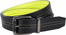 Nike Golf Mens Perforated Reversible Belt Black to Volt NWT pick size