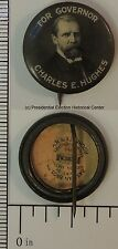 For Governor Charles E. Hughes 1916 Face Photo .875 inch Campaign Button
