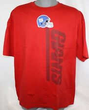 NEW Mens NFL Team Apparel New York NY GIANTS Red Football Tee T-Shirt