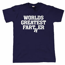Worlds Greatest Farter Mens Funny T Shirt - Gift for Dad Fathers Day