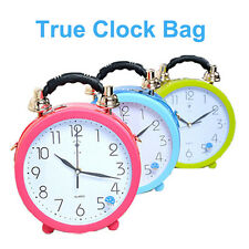 Amliya Colorful Clock Handbag True Clock Cross Body Shoulder Bag Party Clutch