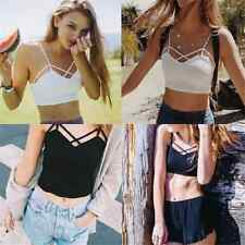Charm Sexy Girl Cut Out Bra Crop Bustier Bralet Corset Tops Tank Top Blouse TR16