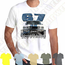 1967 Ford Mustang Muscle Car Mens T-shirt- Personalised number plate available
