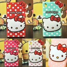 NEW Cute Cartoon 3D Hello Kitty Soft Silicone Cover Case For Sony Xperia Models