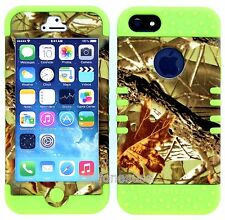 Iphone 5 Koolkase Rocker Hybrid Slim Cover Case Exclusive Camo Mossy / Lime Skin