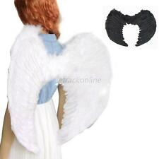 Adults Kids Feather Angel Fairy Wings Fancy Dress Up Party Costume Accessories