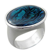 Schmuck-Michel Ring Silver 925 Paua Shell / Abalone Size 50-65 to choose (1130)