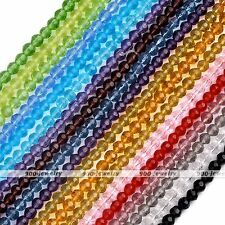 Colorful Round Faceted Crystal Glass Loose Beads For Jewelry DIY Making Fashion