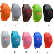 Digital Fashion Children The Jelly Ultra-Thin LED Silicone Sport Wrist Watch NEW