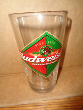 Budweiser Classic Draught - Red / Green - Pint Beer Glass