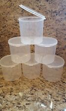 New Size 11 oz. Wide Hinged Lid Herb Container Plastic Storage INCLUDES LABELS