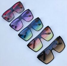 NEW Super HOT Oversized Flat Top Square Mirrored Wayfarer Large Sunglasses 9923