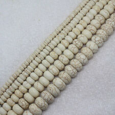 3x6-8x14mm White Turquoise Rondelle abacus bead stone loose beads 15""