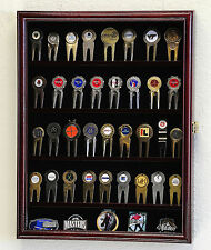 Golf Ball Divot Tool Markers Coin Chips Pin Magnets Display Case Cabinet Holder