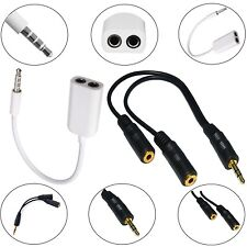 3.5mm STEREO JACK CABLE HEADPHONE AUX SPLITTER ADAPTER FOR VARIOUS SMARTPHONE