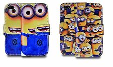 Despicable Me Minion PU Leather Stand Wallet Case Cover For Apple iPhone 5 UK
