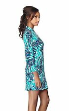 NWT $198 Lilly Pulitzer Devina Bright Navy Im Game Small Shift Dress