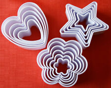 Biscuit Cookie Cutters Heart Star Flower Shaped Pastry Marzipan Fondant Paste