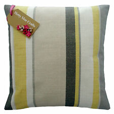 Hand Made Laura Ashley Eaton Stripe Camomile Cushion Cover in various sizes