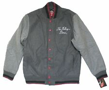 THE ROLLING STONES TONGUE 50 YEARS GREY VARSITY JACKET COAT NEW OFFICIAL NWT