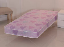 Single mattress 3ft, Shorty, Small Double, Double Mattress 4ft6 Pink Princess