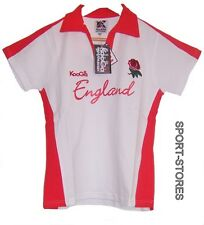 KOOGA ENGLAND LADIES RUGBY SUPPORTERS POLO SHIRT TEE TOP SIZE 12 WHITE RED NEW