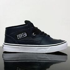 VANS HALF CAB TOTAL ECLIPSE NAVY SNAKE  LEATHER TRAINERS