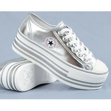 Women MAXSTAR C50 6-Holes  Lace-Up Original Fashion Sneakers High Quality_Silver