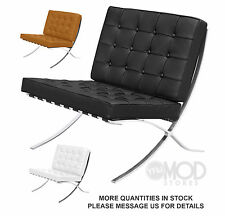 Pamplona Chair Premium Lounge Mid Century Accent ITALIAN LEATHER