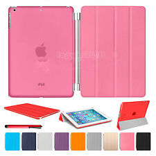 Slim Magnetic Leather Smart Stand Cover with Hard Back Case For Apple iPad 4 3 2