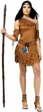 Adult Pow Wow Indian Costume - Native American - Pocahontas SM or ML fnt
