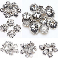 Wholesale Tibet Silver Metal Loose Spacer Bead Flower Caps Jewelry Beads Finding